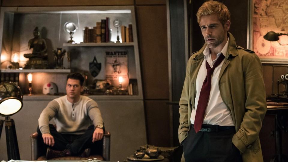 Nick Zano as Nate Heywood/Steel and Matt Ryan as Constantine