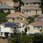 Homes in San Marcos, California, are pictured.