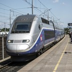 photo: a TGV train in Avignon, France