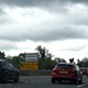 A sign for customs and excise is seen on the motorway approaching the border between Northern Ireland and Ireland onJuly 13, 2017.