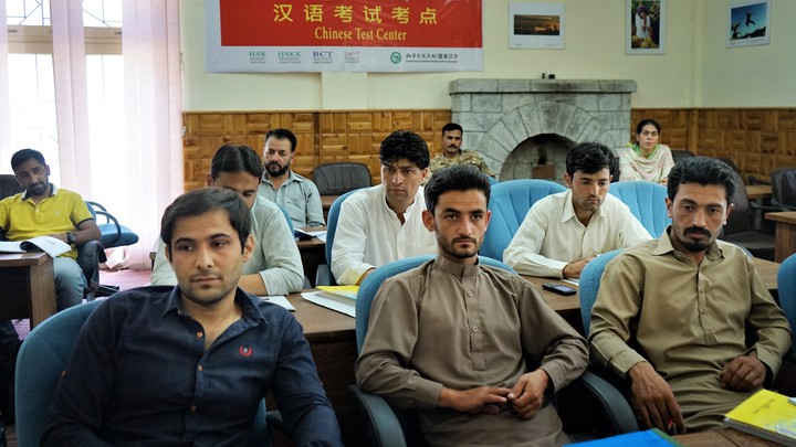 Students in the army-sponsored class at the Karakoram International University in Gilgit