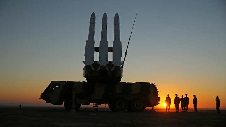 Iran holding a missile defense drill