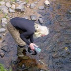 Chauncey Moran, vice chairman of the Yellow Dog Watershed Preserve and a volunteer stream monitor for Yellow Dog River