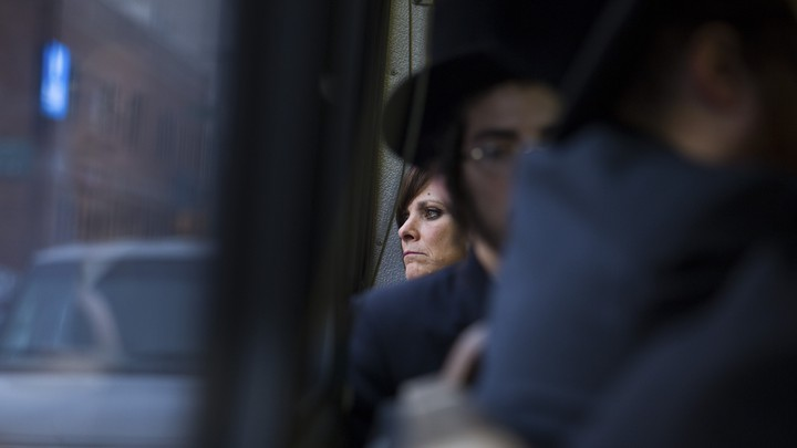 Person on a bus