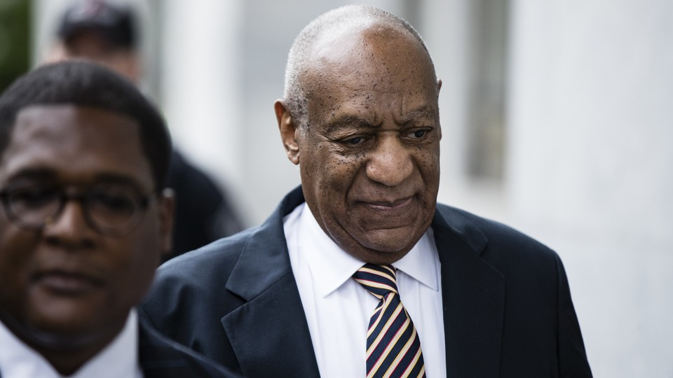 Bill Cosby arrives for his sexual assault trial at the Montgomery County Courthouse.
