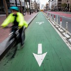 Photo: A protected bike lane along San Francisco's Market Street, which went car-free in January.