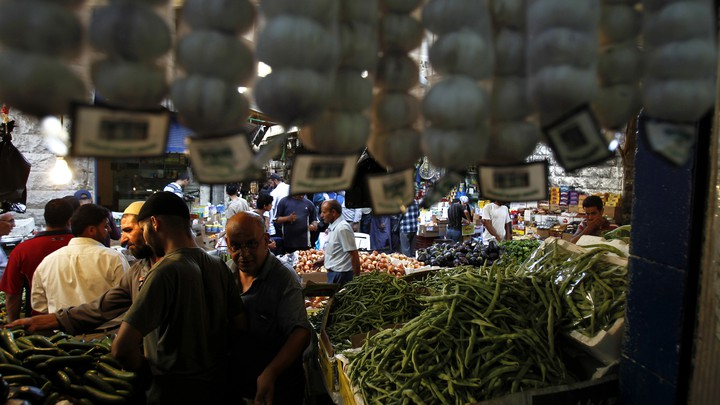 A street market in Amman, Jordan