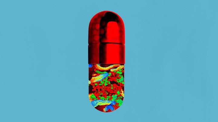 Illustration of a drug capsule