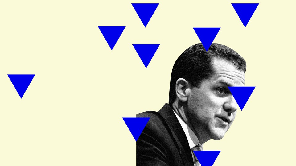Michael Barr, Joe Biden's likely nominee for comptroller of the currency, surrounded by blue triangles