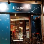 photo: An Amazon shop opens in Paris in 2018.