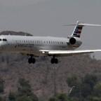 Heat rises as an American Eagle jet lands at Phoenix Sky Harbor International Airport, June 19, 2017