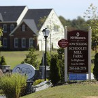 A photo of a new subdivision of high-end suburban homes in Highland, Maryland.