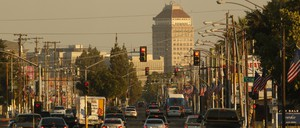 a photo of smoggy Fresno, California.