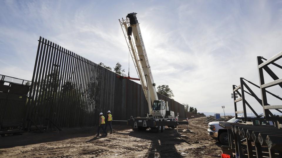Construction along part of the U.S.-Mexico border
