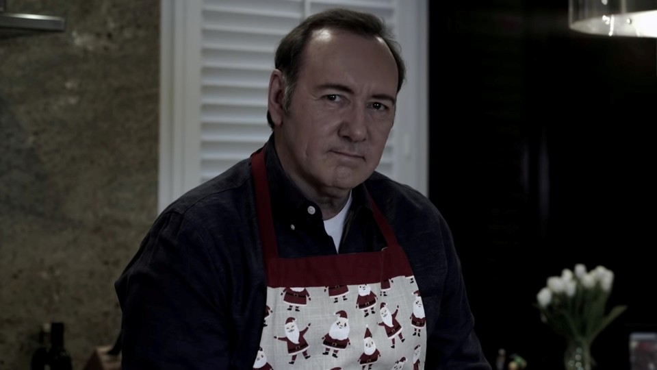 Actor Kevin Spacey in still image taken from a YouTube video