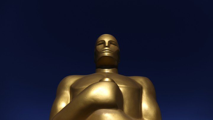 An Oscar statue is seen outside the Dolby Theatre as preparations continue for the 89th Academy Awards in Hollywood, Los Angeles, California, U.S. February 23, 2017.