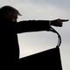 President Trump pointing forward