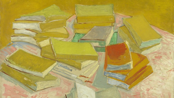 Piles of French Novels, by Vincent van Gogh