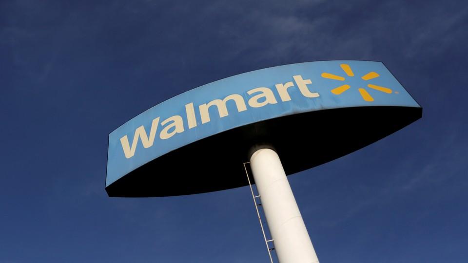 A Walmart sign