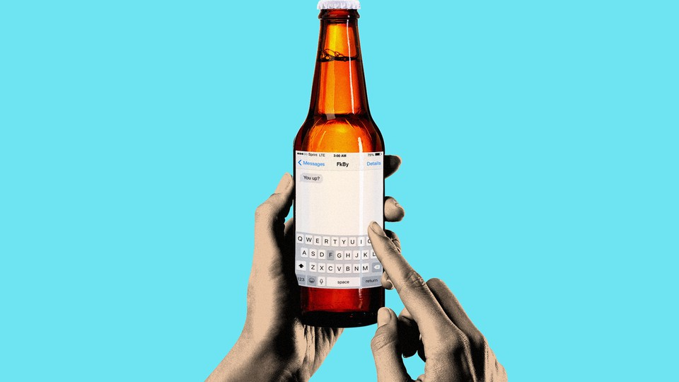 An iMessage screen replacing the label on a beer bottle