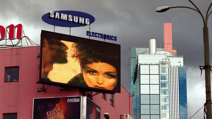 Advertising in Tallinn, Estonia, in 2002