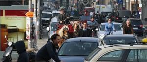 Berlin's Friedrichstrasse will test a car ban starting in October 2019.