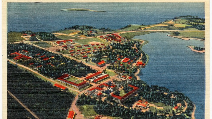 A postcard from Quoddy Village in Eastport, Maine, from between circa 1930 and circa 1945