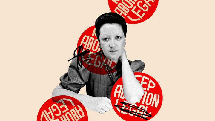 An illustration of Norma McCorvey.