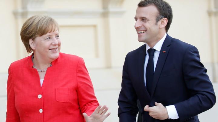 German Chancellor Angela Merkel and French President Emmanuel Macron
