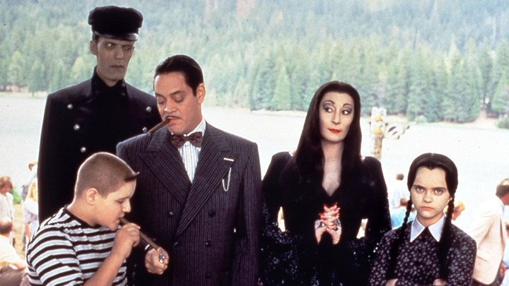 The Addamses in 'Addams Family Values'