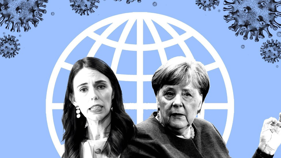 An image featuring New Zealand's Jacinda Ardern and Germany's Angela Merkel.
