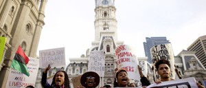 Activists protest the criminal-justice system in Philadelphia