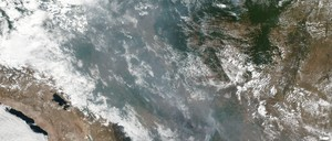 Smoke from the fires hangs over Brazil.