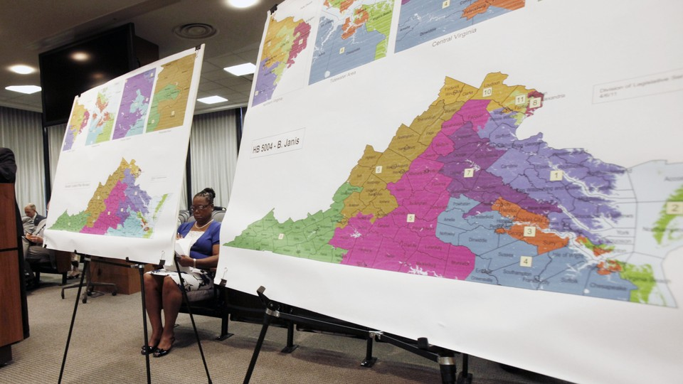 A Virginia congressional redistricting map