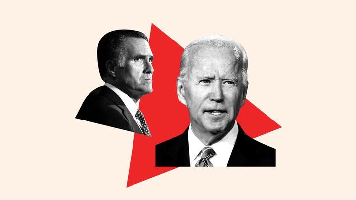 President Joe Biden and Senator Mitt Romney