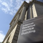 a photo of the Internal Revenue Service building.