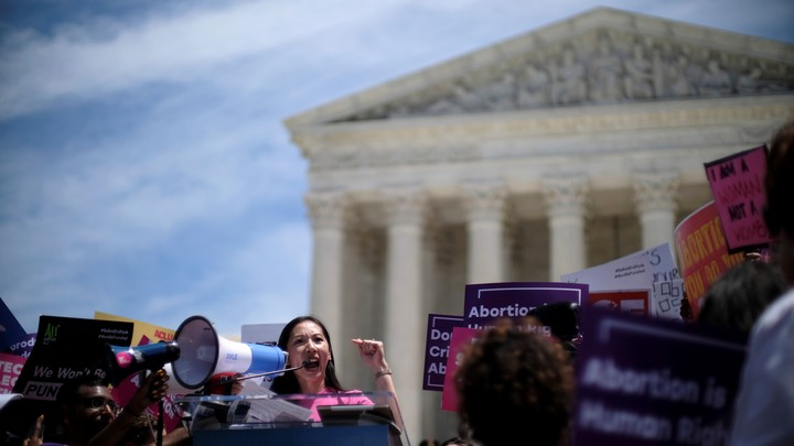 Planned Parenthood president Dr. Leana Wen speaks at a protest against anti-abortion legislation at the U.S. Supreme Court on May 21, 2019