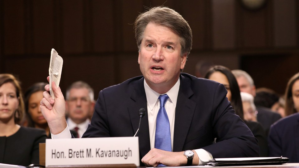 Supreme Court nominee Brett Kavanaugh testifies during his confirmation hearing on September 5, 2018.