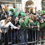 photo: Revelers at New York City's St. Patrick's Day parade in 2010.