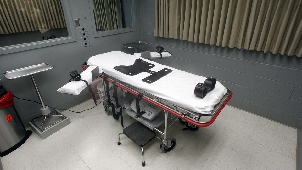 The execution room at the Oregon State Penitentiary