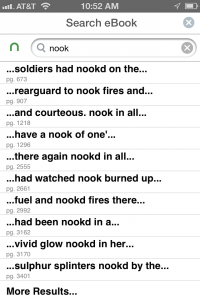 Screenshot from Nook