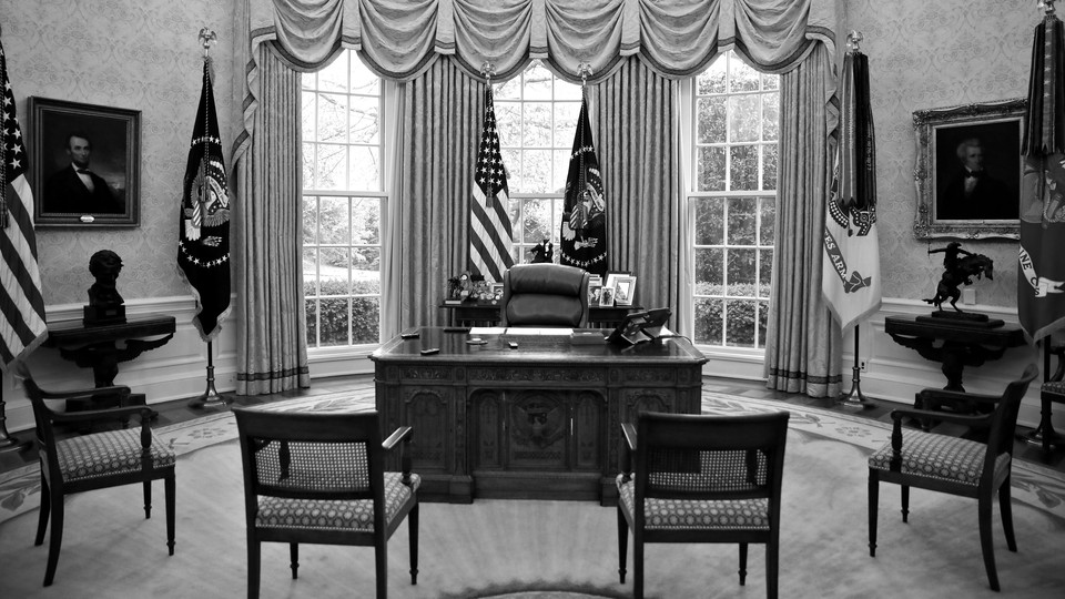 Empty chairs in the Oval Office