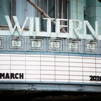 photo: An empty theater marquee on March 13, 2020 in Hollywood, California.