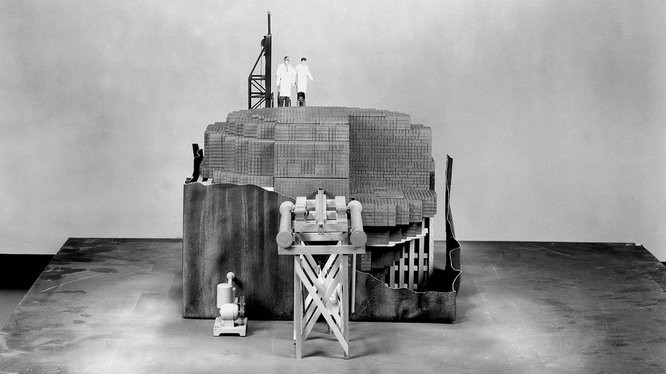 A scale model of the Chicago Pile nuclear reactor