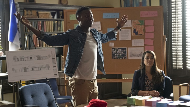 Brandon Micheal Hall and Lea Michele in 'The Mayor'