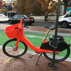A dockless bikeshare bike on the streets of D.C.