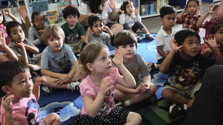 Children at Scripps Ranch KinderCare in San Diego.