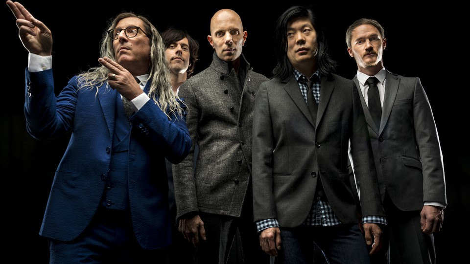 The members of A Perfect Circle, including Maynard James Keenan (left)