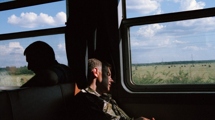 On the train from Slavutych to the nuclear power station of Chernobyl