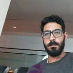 A photo of Hassan Al Kontar inside an airport terminal